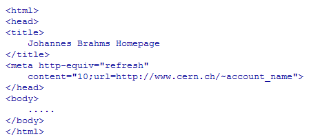 DESY - IT - Homepage redirection